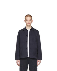 Officine Generale Navy Dyed Chore Jacket