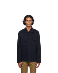 Maison Margiela Navy Gabardine Over Shirt