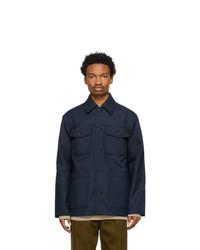 Acne Studios Navy Twill Shirt Jacket