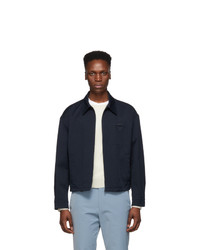 Prada Navy Twill Zip Jacket