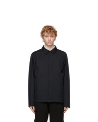 Z Zegna Navy Usetheexisting Microtene Shirt Jacket