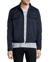 ATM Anthony Thomas Melillo Tech Zip Up Shirt Jacket Navy