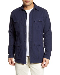 Eton Trim Fit Solid Shirt Jacket