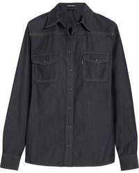 Tom Ford Denim Shirt Dark Denim