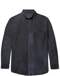 The Elder Statesman Oversized Hammered Silk Shirt