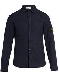 Stone Island Reversible Cotton Moleskin Shirt