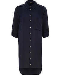 Navy Shirtdress