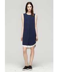 Rag and Bone Longtail Shirt Dress Dark Navy
