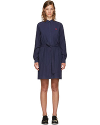 Kenzo Navy Tiger Shirt Dress