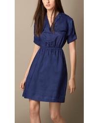 Burberry Ramie Shirt Dress