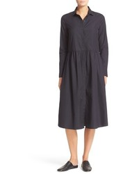 Shirred cotton shirtdress medium 951906