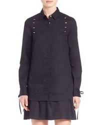 3.1 Phillip Lim Staple Detail Cotton Shirtdress