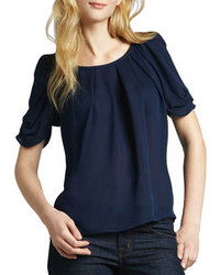 Navy short sleeve blouse original 1288293