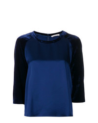 Golden Goose Deluxe Brand Contrast Three Quarter Sleeve Top