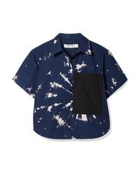Proenza Schouler Pswl Cropped D Cotton Poplin Shirt