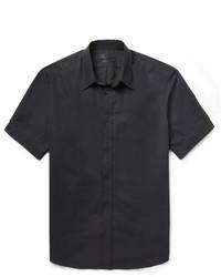 Alexander McQueen Black Slim Fit Short Sleeved Cotton Shirt