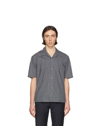 Maison Margiela Blue Micro Paisley Shirt