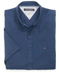 Tommy Hilfiger Final Sale  New York Fit Short Sleeve Shirt