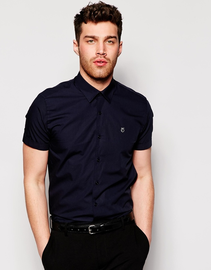 ... Peter Werth Formal Short Sleeve Shirt In Slim Fit ... 4c45e6ed4