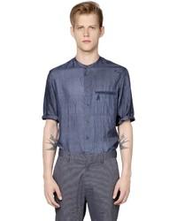 Giorgio Armani Short Sleeved Indian Silk Shirt
