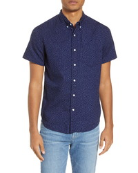 Madewell Indigo Dots Short Sleeve Shirt