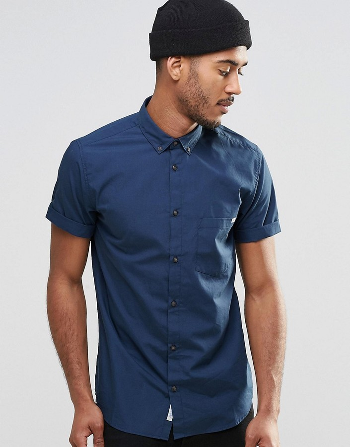 Jack and Jones Jack Jones Short Sleeve Shirt With Button Down ...
