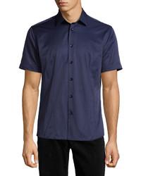Bogosse Mini D Robin 02 Short Sleeve Shirt Navy