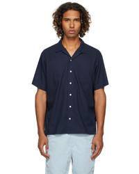 Polo Ralph Lauren Navy Classic Fit Camp Short Sleeve Shirt