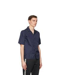 Moncler Navy Nylon Short Sleeve Shirt