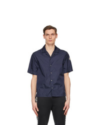 Moncler Navy Nylon Short Sleeve Shirt
