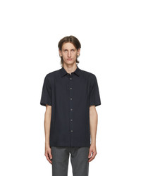 Paul Smith Navy Organic Cotton Short Sleeve Shirt