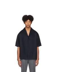 Deveaux New York Navy Tencel Resort Shirt