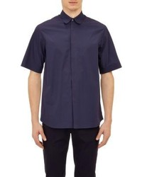Jil Sander Poplin Short Sleeve Shirt Blue