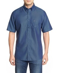 Nordstrom Shop Classic Smartcare Regular Fit Short Sleeve Cotton Sport Shirt