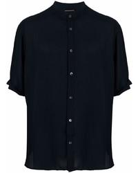 Emporio Armani Short Sleeve Band Collar Shirt