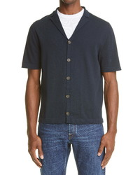 Eleventy Short Sleeve Button Up Bowling Shirt