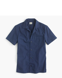 J.Crew Short Sleeve Camp Collar Shirt In Lightweight Chino