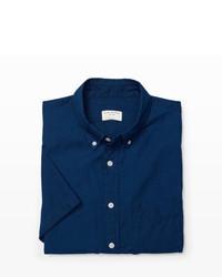 Club Monaco Short Sleeve Indigo Shirt
