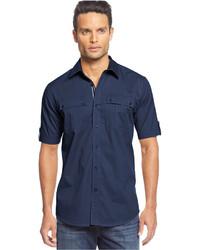 Sean John Short Sleeve Twill Shirt