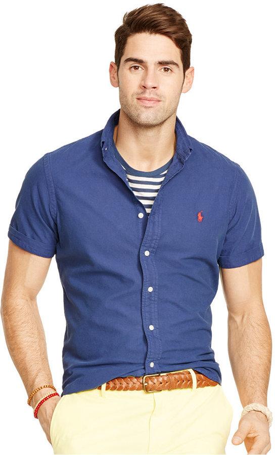 62e9301040ad ... Polo Ralph Lauren Short Sleeved Oxford Shirt ...