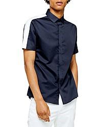 Topman Slim Fit Short Sleeve Button Up Shirt