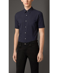 Burberry Slim Fit Short Sleeve Cotton Shirt