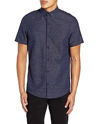 Calibrate Slim Fit Stripe Short Sleeve Sport Shirt