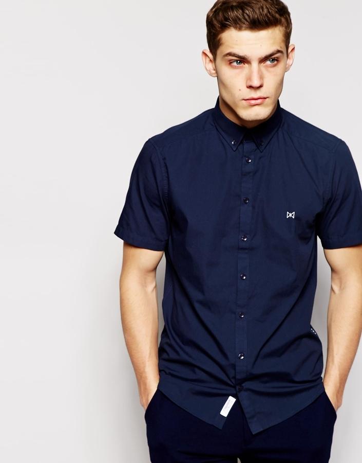 5737ce6d30f ... Solid Tailored Originals Short Sleeve Formal Shirt In Regular Fit ...