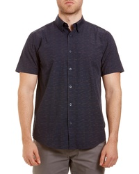 Ben Sherman Trim Fit Short Sleeve Button Up Sport Shirt