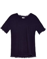 Clara short sleeved cashmere knit sweater medium 800184