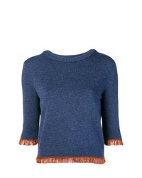 Chloé Cropped Fringe Sweater