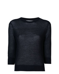 Vince Cropped Sleeves Jumper