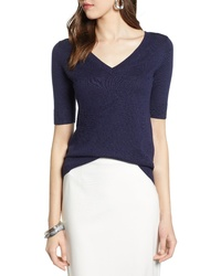 Halogen Double V Neck Sweater