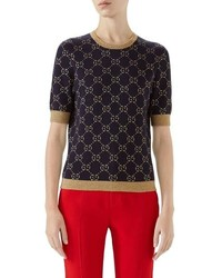 Gucci Metallic Gg Sweater